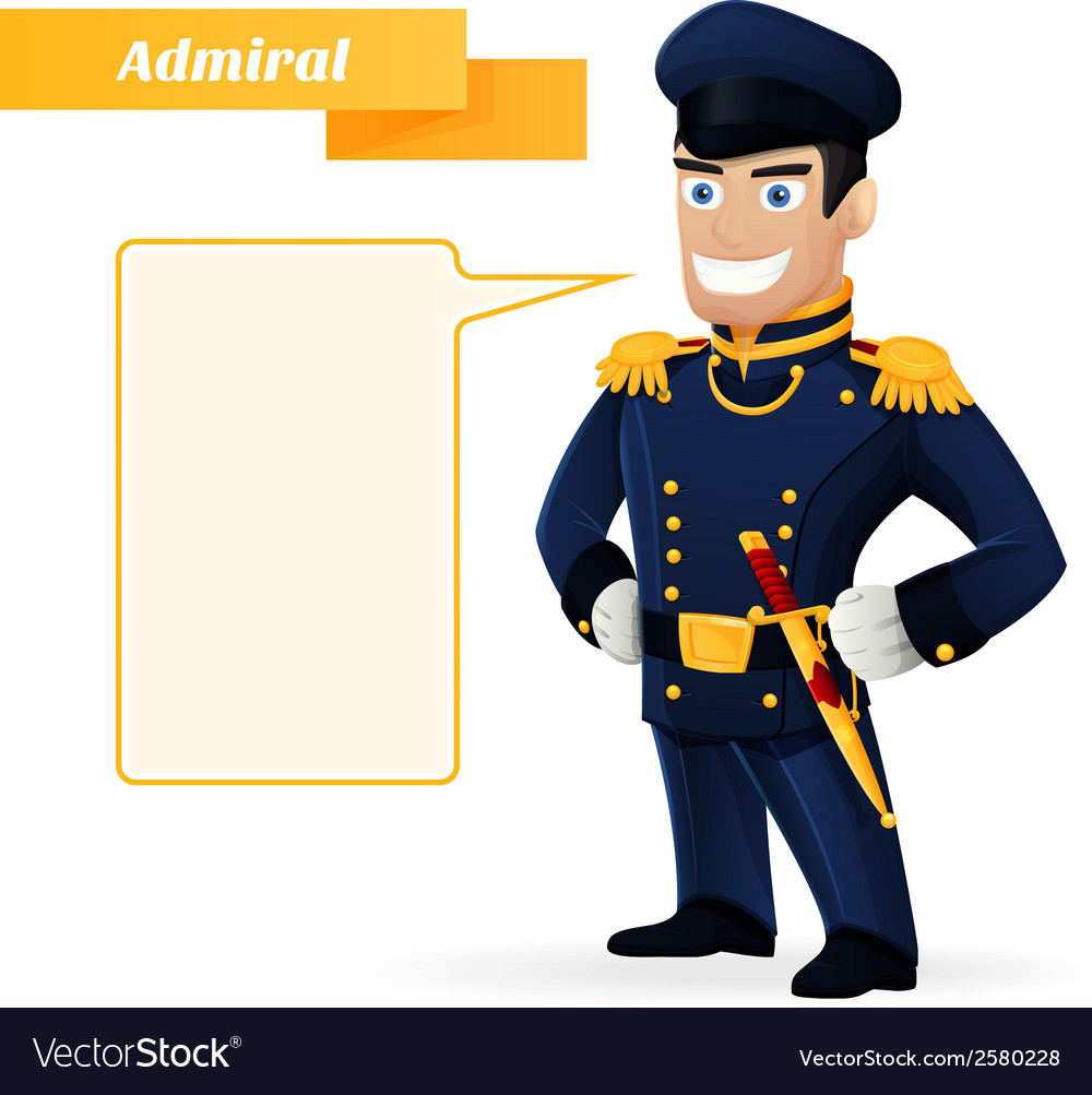 Admiral vector | Price: 1 Credit (USD $1)
