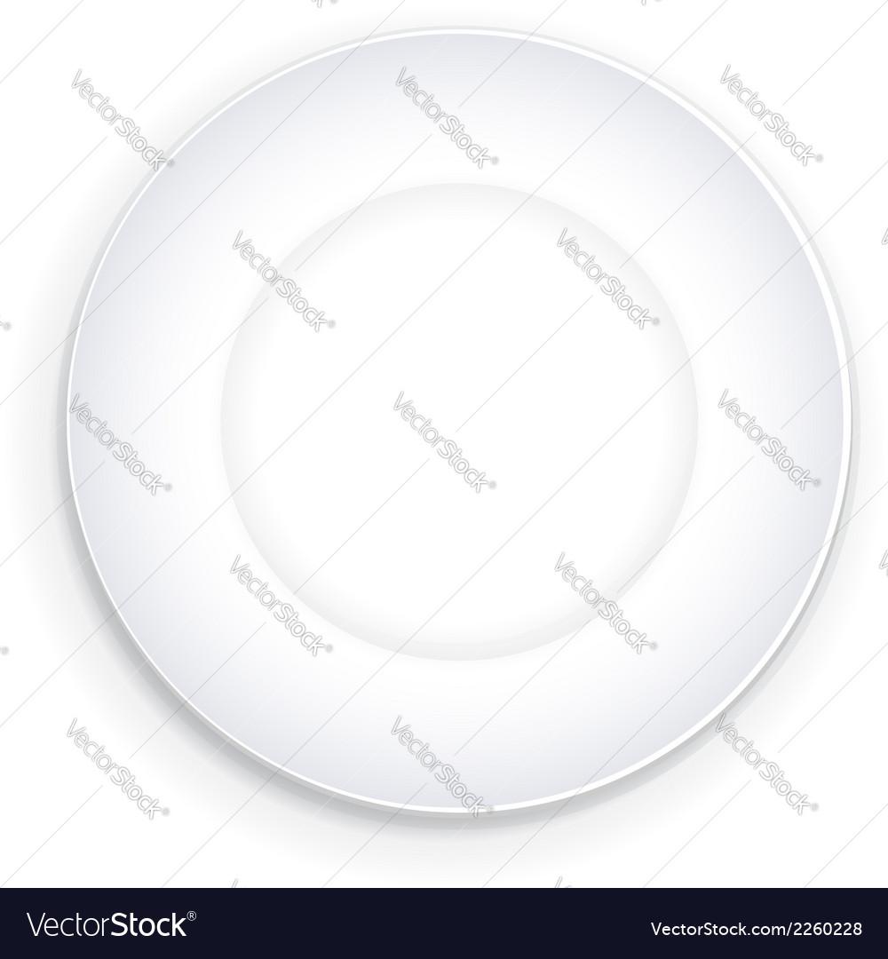 Empty plate vector | Price: 1 Credit (USD $1)