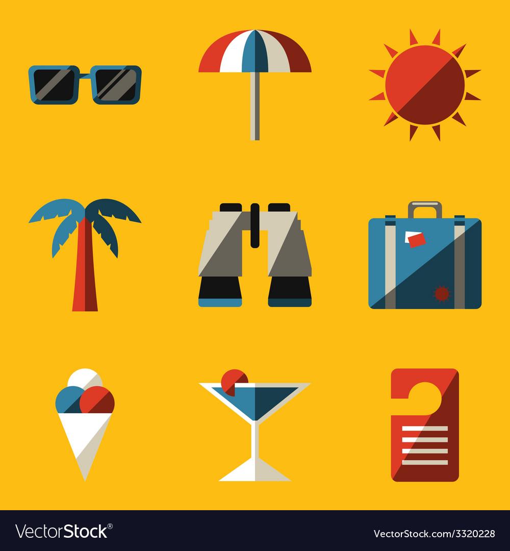 Flat icon set travel vector   Price: 1 Credit (USD $1)