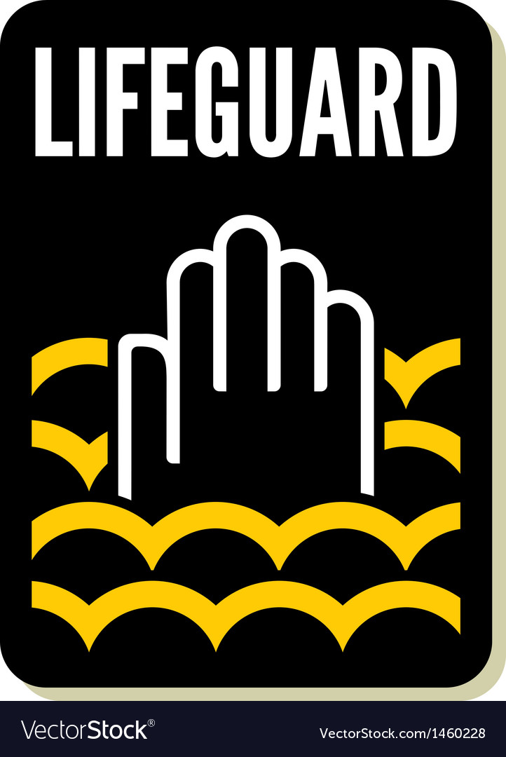 Lifeguard sign vector | Price: 1 Credit (USD $1)