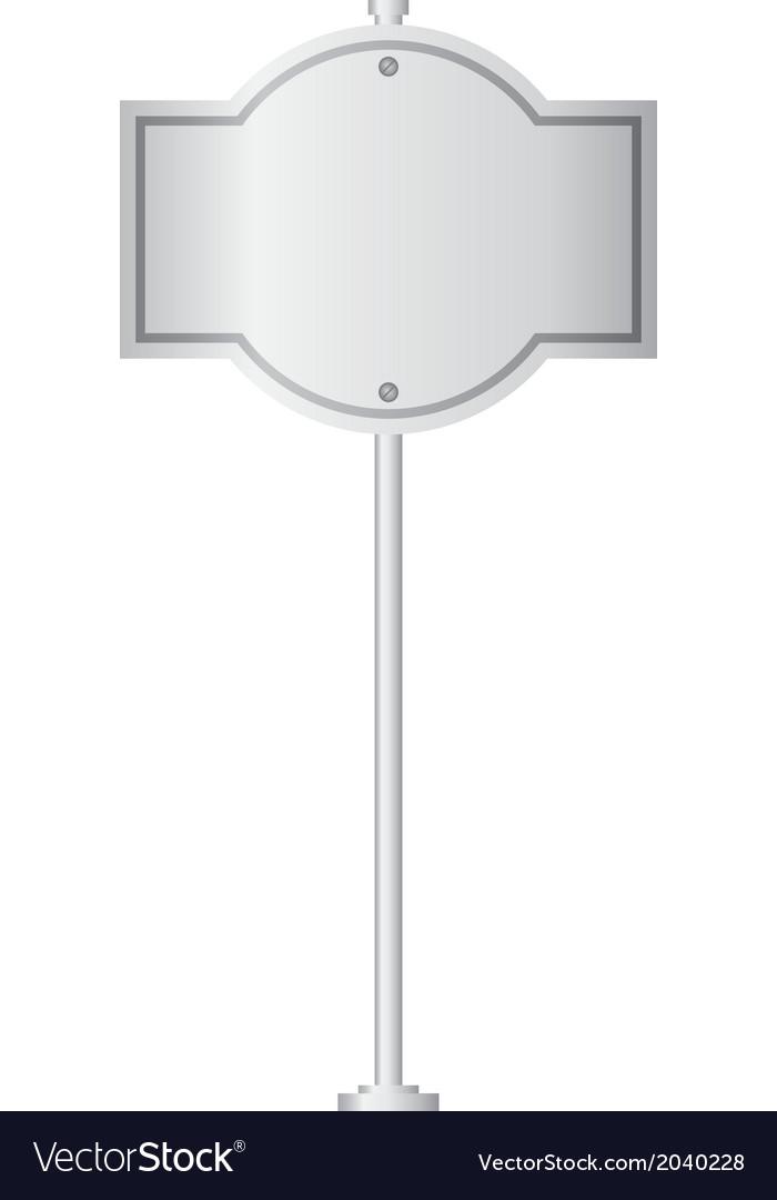 Metal signpost vector | Price: 1 Credit (USD $1)