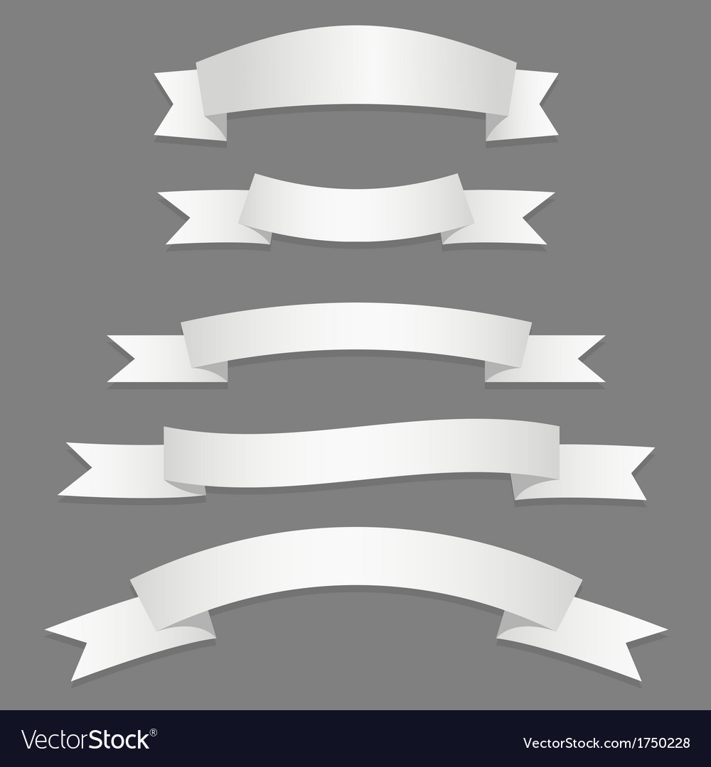 Silver ribbons flags vector | Price: 1 Credit (USD $1)
