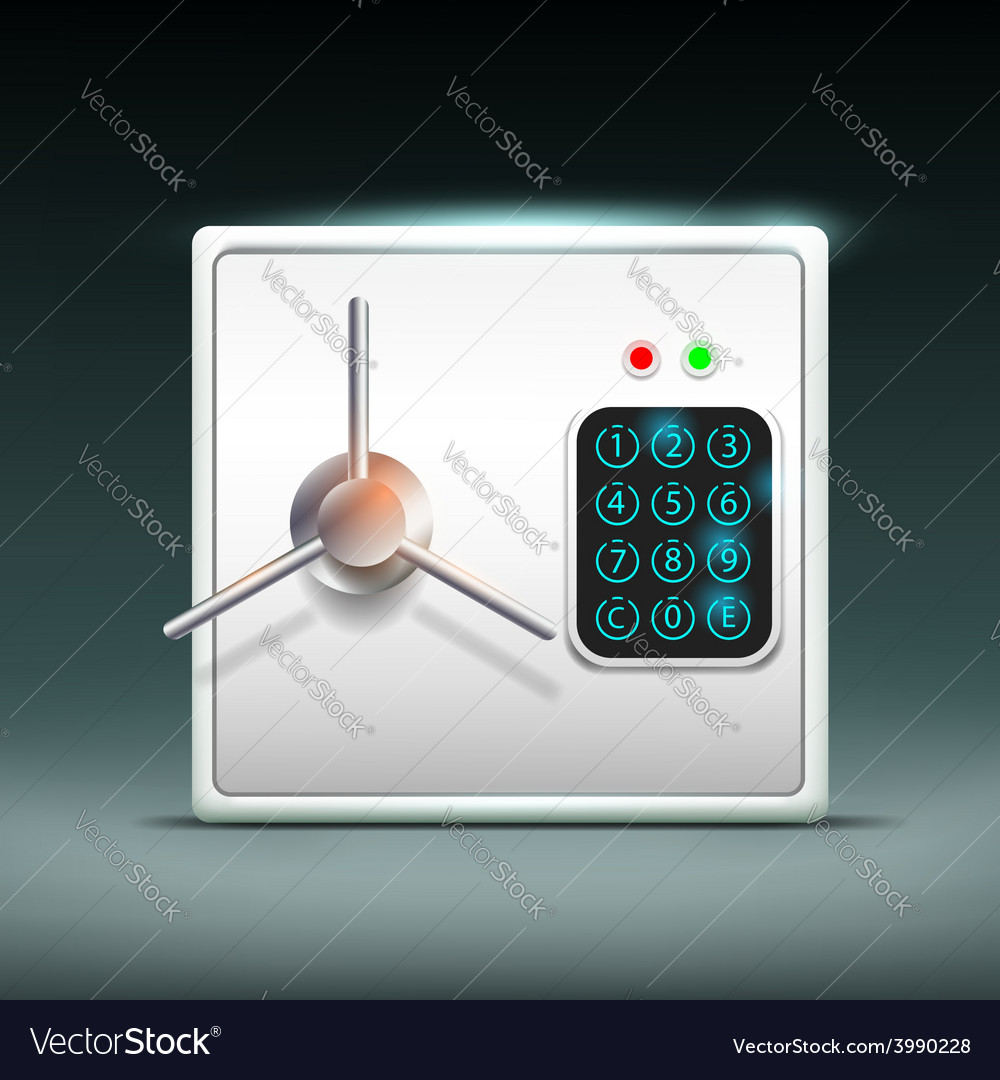 Square safe vector | Price: 1 Credit (USD $1)