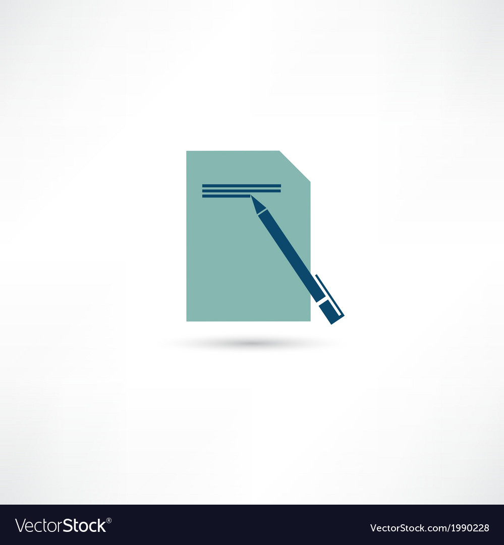 Writing icon vector | Price: 1 Credit (USD $1)