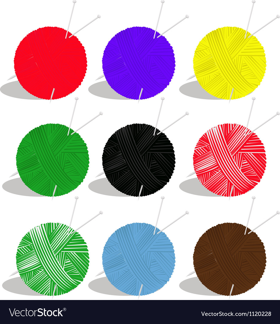Yarn balls vector | Price: 1 Credit (USD $1)