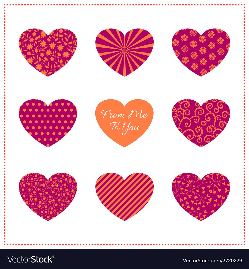 Background with bright hearts vector | Price: 1 Credit (USD $1)