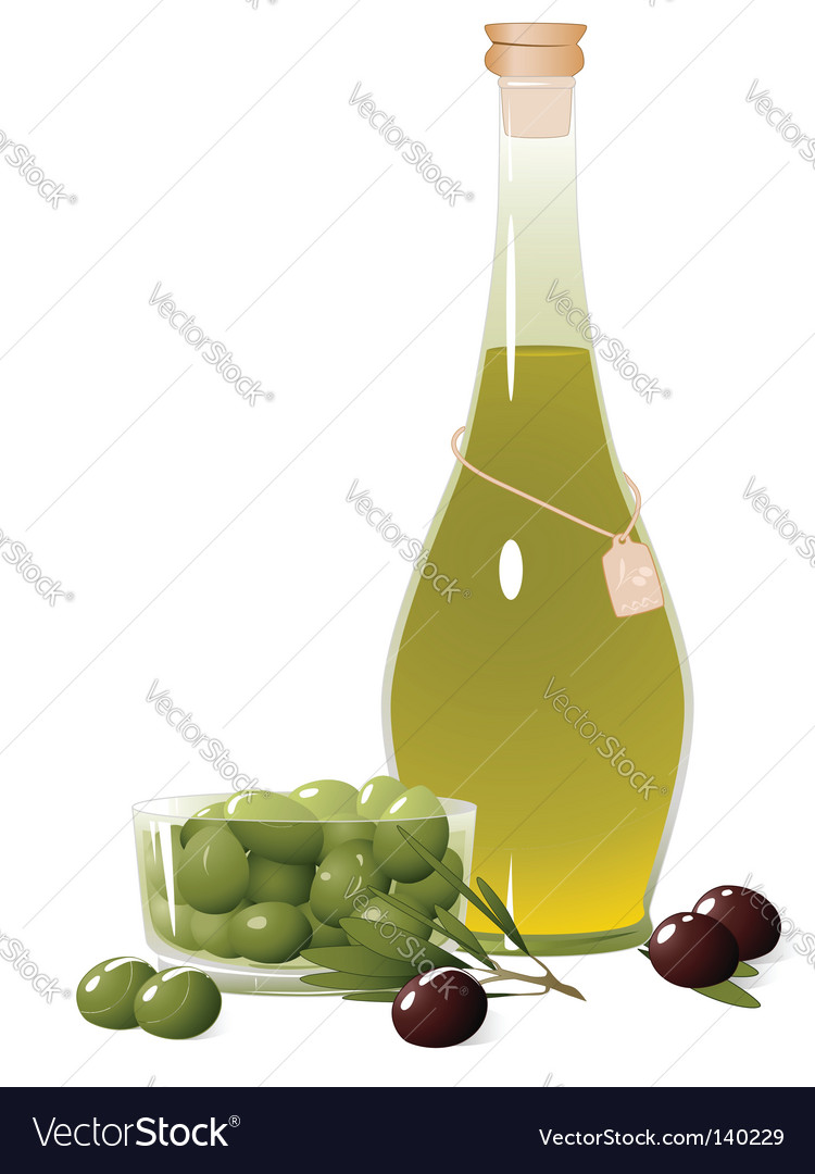 Bottle of olive oil vector | Price: 1 Credit (USD $1)