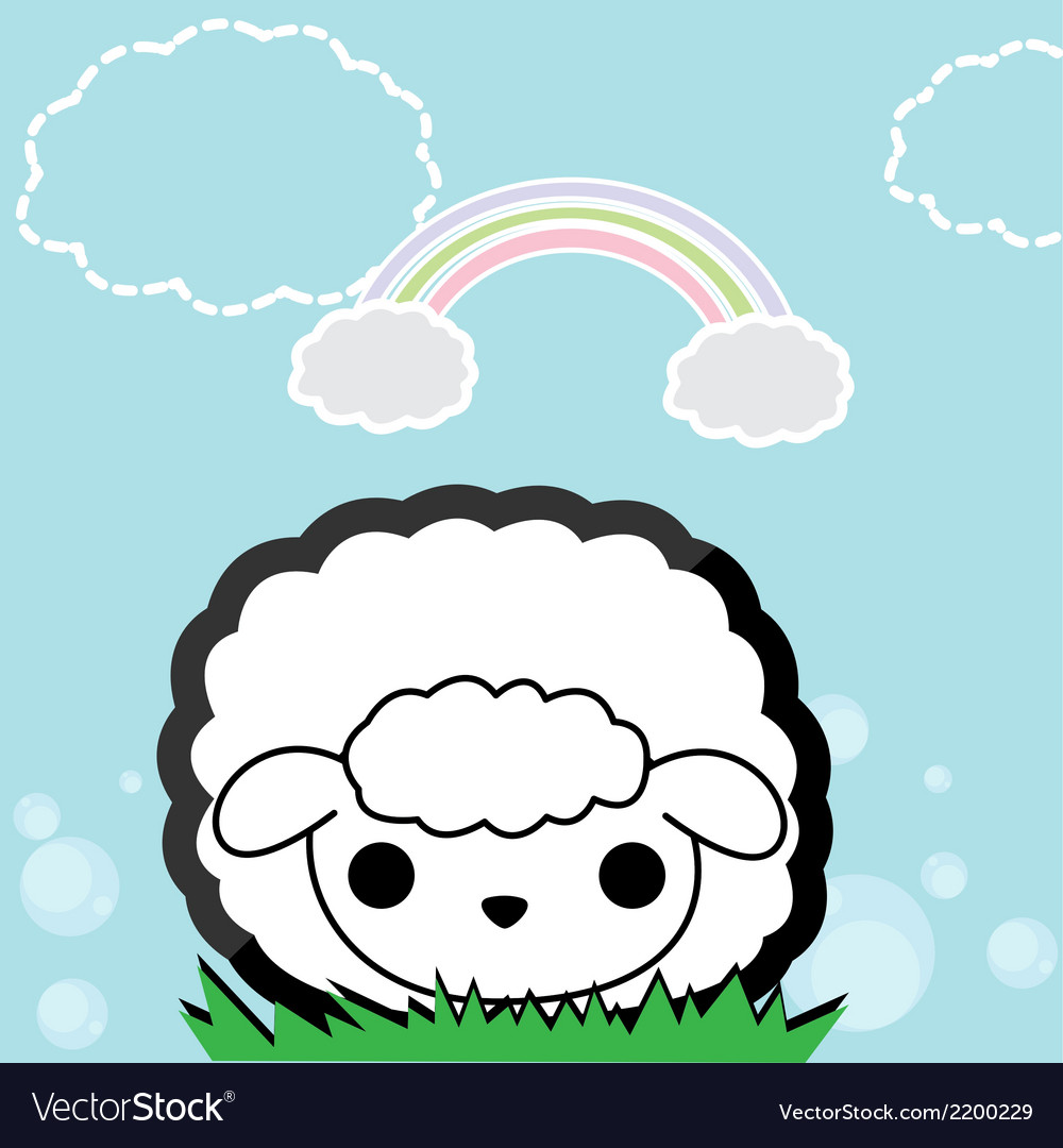 Cute little sheep vector   Price: 1 Credit (USD $1)