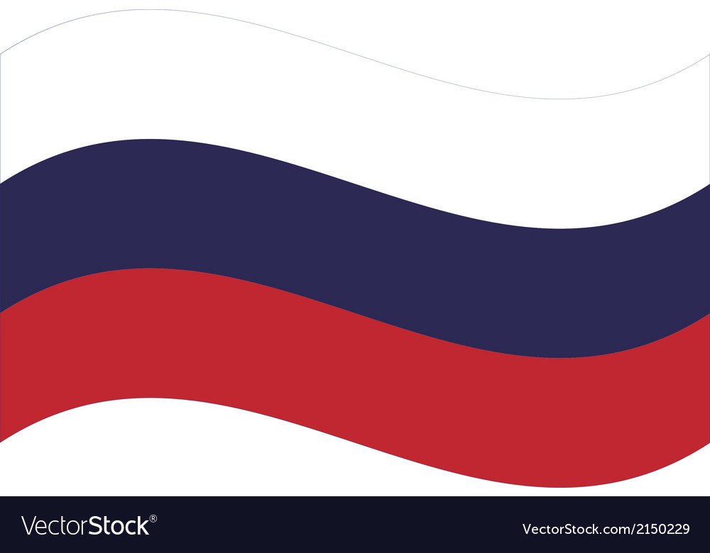 Flag russia vector | Price: 1 Credit (USD $1)