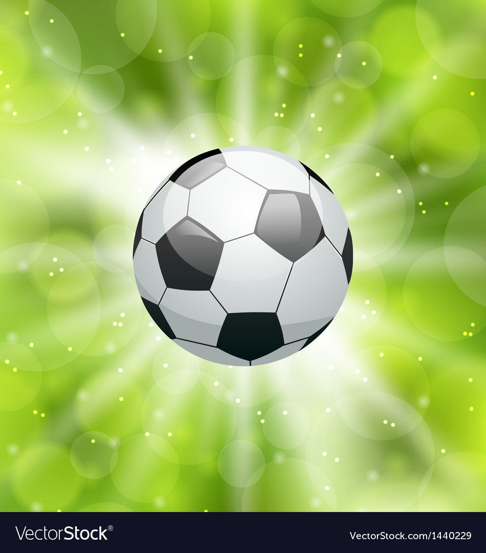 Football light background with ball vector | Price: 1 Credit (USD $1)