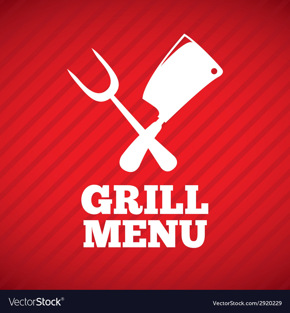 Grill design vector | Price: 1 Credit (USD $1)
