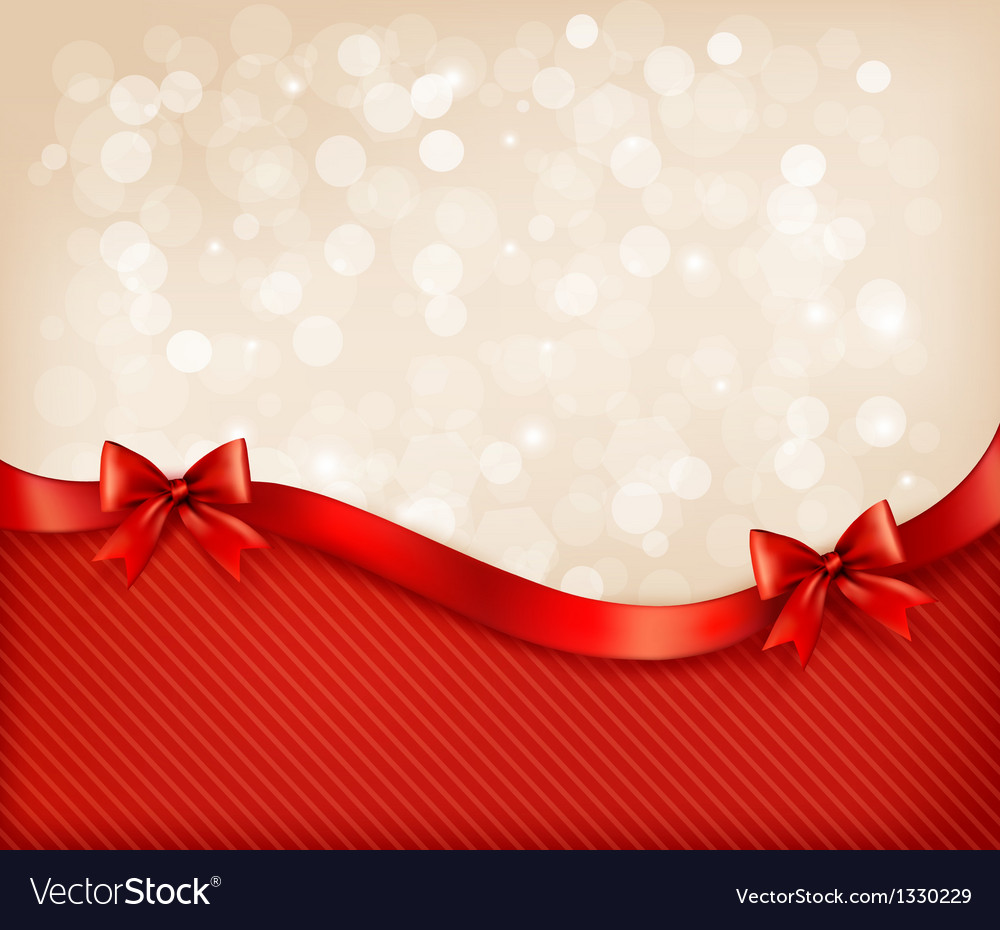 Holiday background with gift glossy bows and vector | Price: 1 Credit (USD $1)
