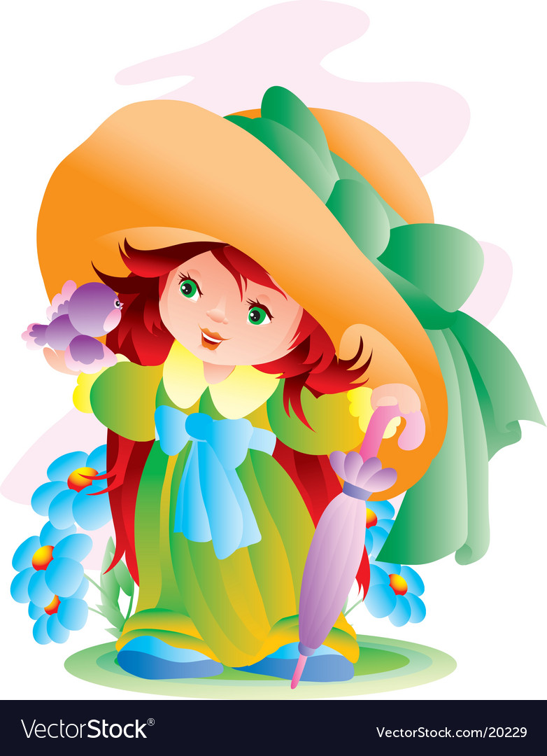 The little girl vector | Price: 3 Credit (USD $3)