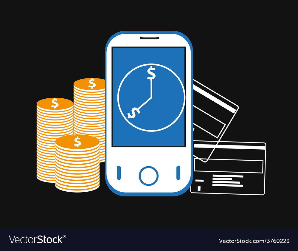 Mobile banking background vector | Price: 3 Credit (USD $3)