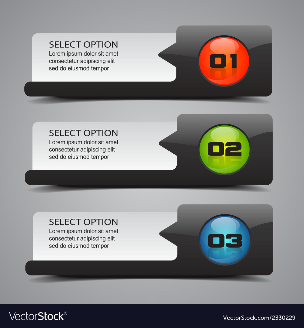 Modern option banners vector | Price: 1 Credit (USD $1)