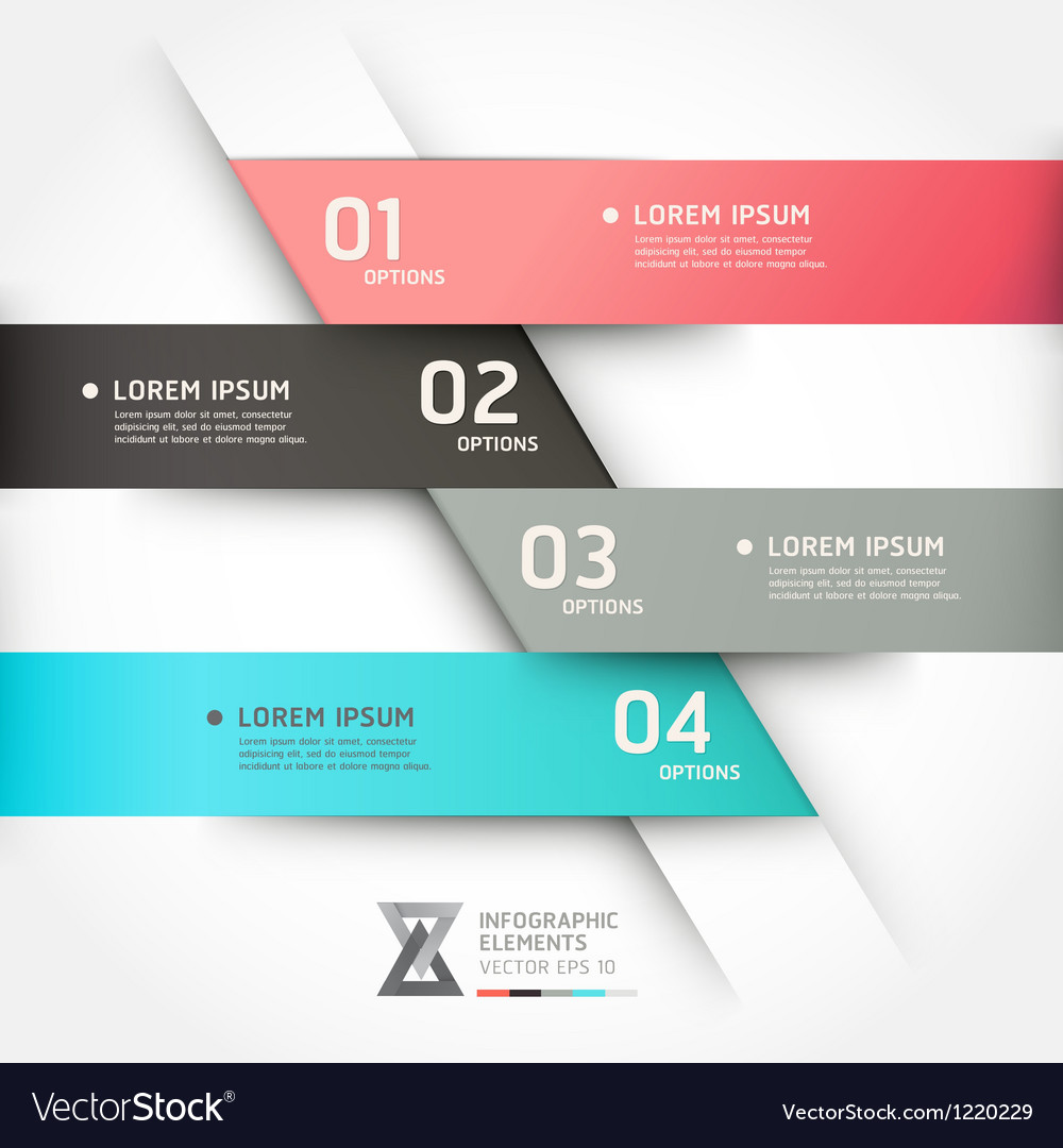 Modern origami style options banner vector | Price: 3 Credit (USD $3)