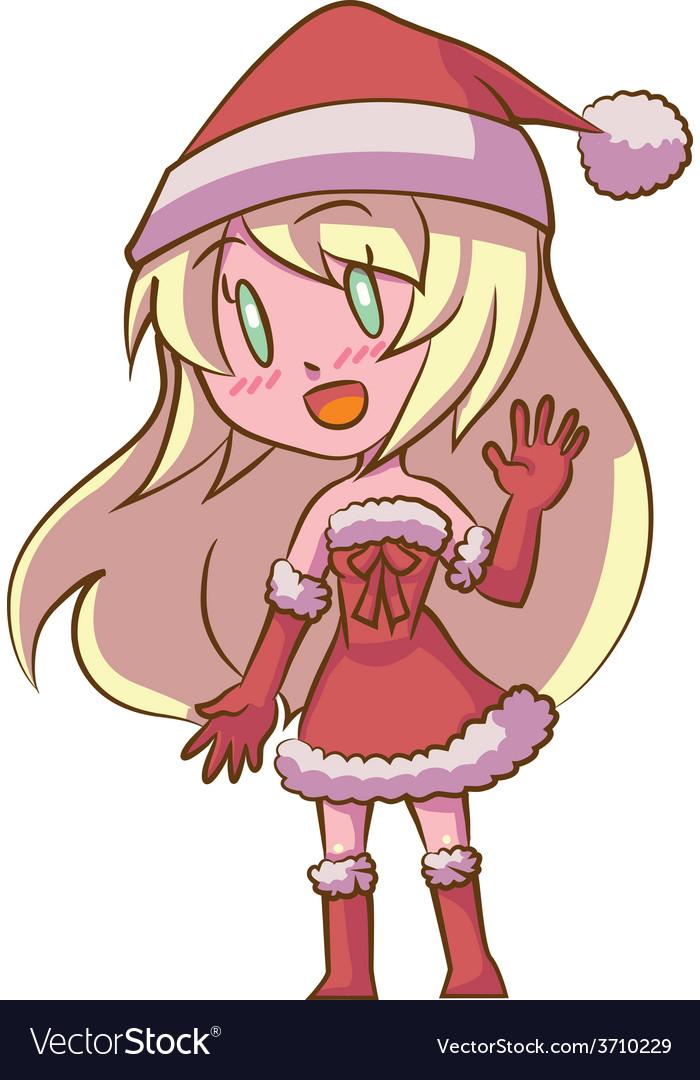Santa girl vector | Price: 1 Credit (USD $1)