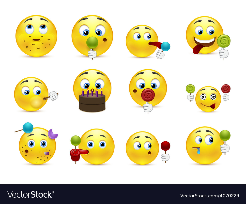 Smilies sweet tooth vector | Price: 1 Credit (USD $1)