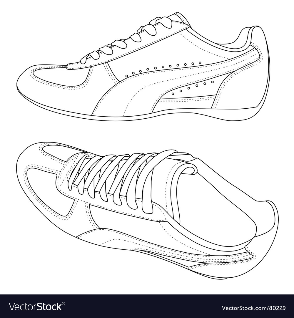 Sport shoes vector | Price: 1 Credit (USD $1)