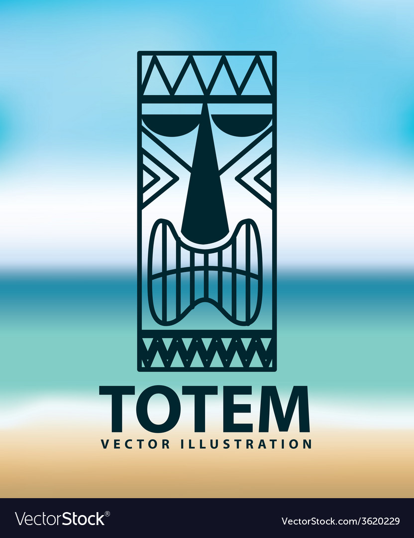 Totem icon vector | Price: 1 Credit (USD $1)