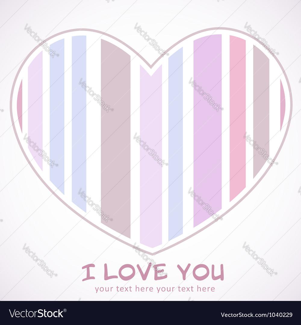 Valentines day heart retro invitation postcard vector | Price: 1 Credit (USD $1)