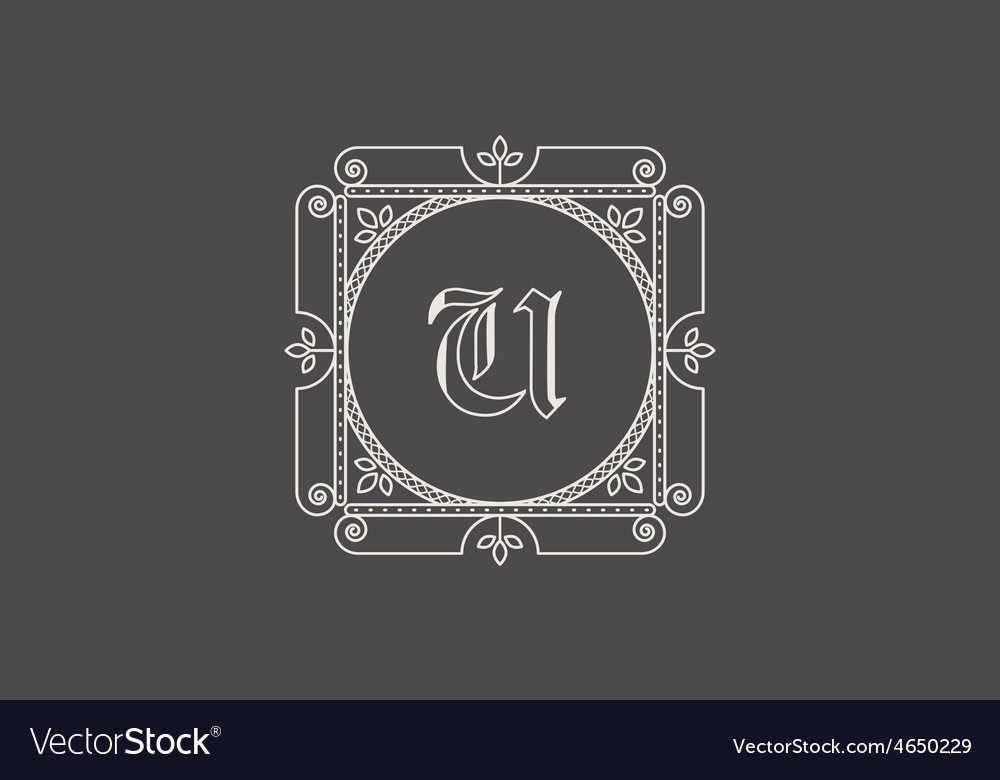 Vintage monogram vector | Price: 1 Credit (USD $1)