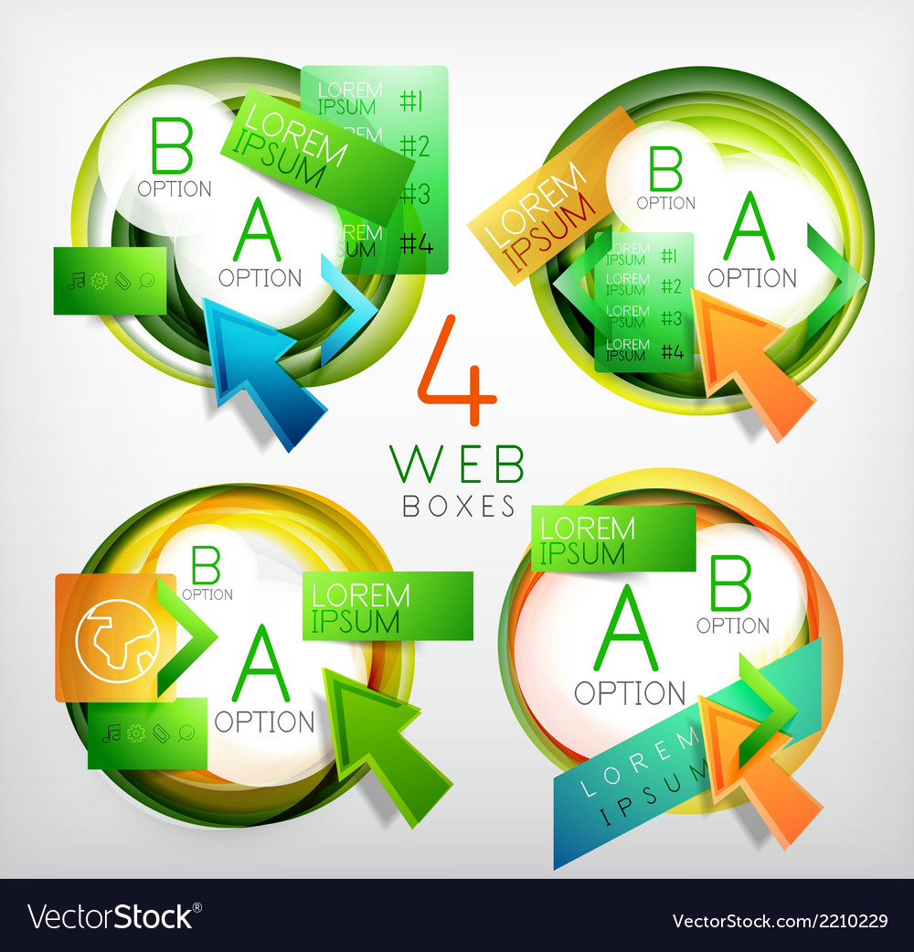 Web design circle boxes for web promotion vector   Price: 1 Credit (USD $1)