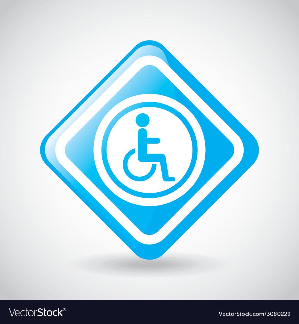 Wheelchair design vector | Price: 1 Credit (USD $1)
