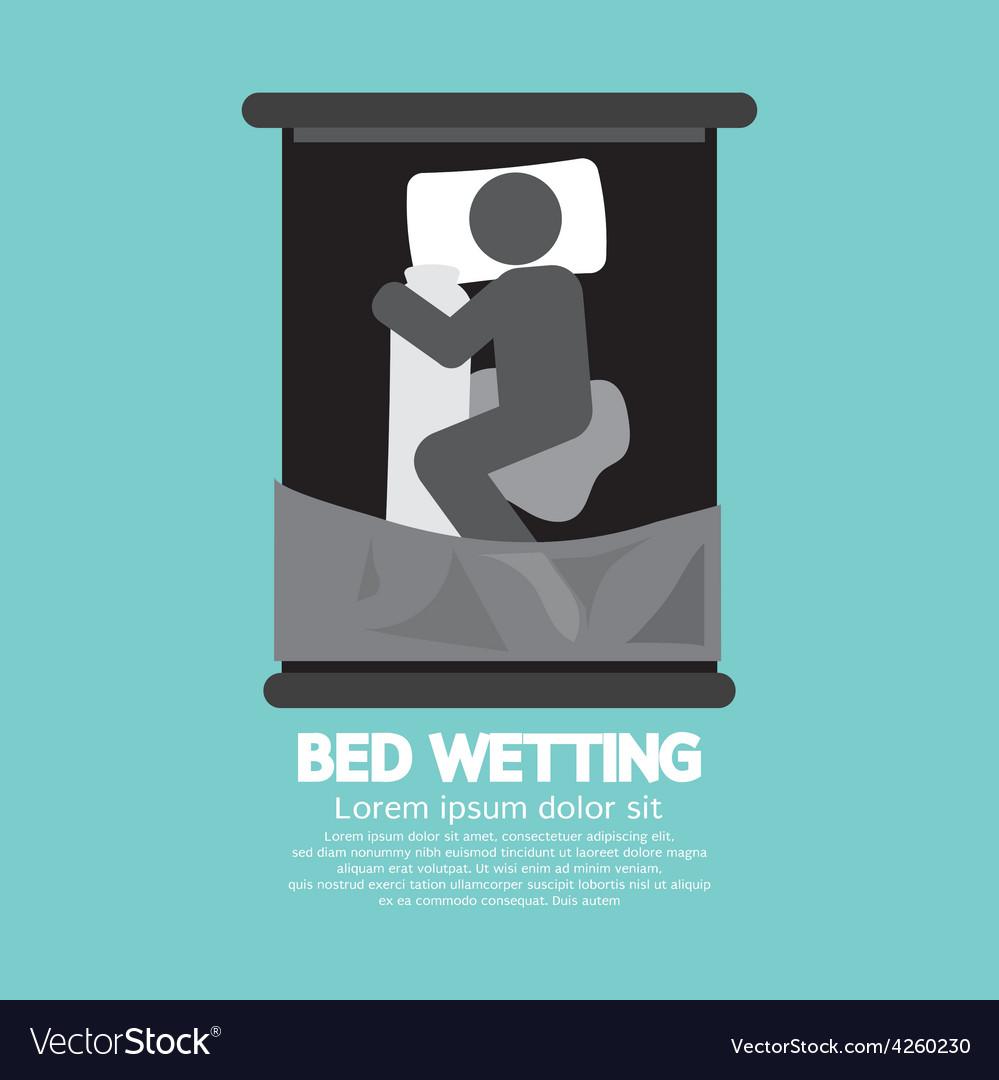 Bed-wetting black graphic symbol vector   Price: 1 Credit (USD $1)