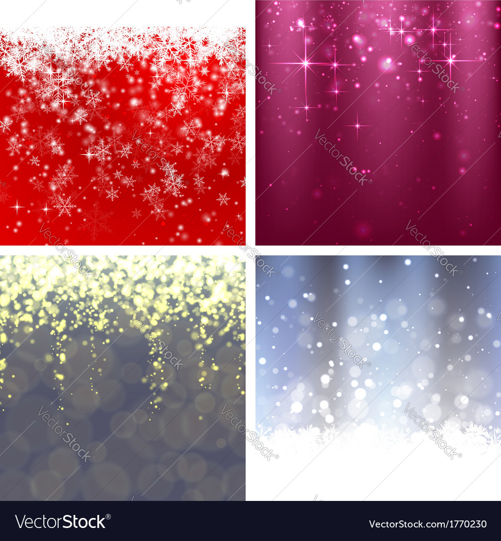 Christmas background set 2 vector | Price: 1 Credit (USD $1)