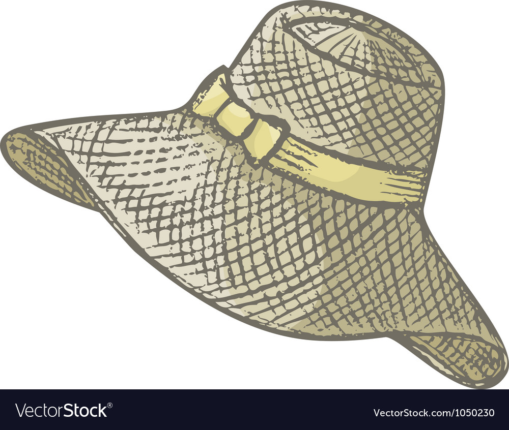 Female summer hat vector | Price: 1 Credit (USD $1)