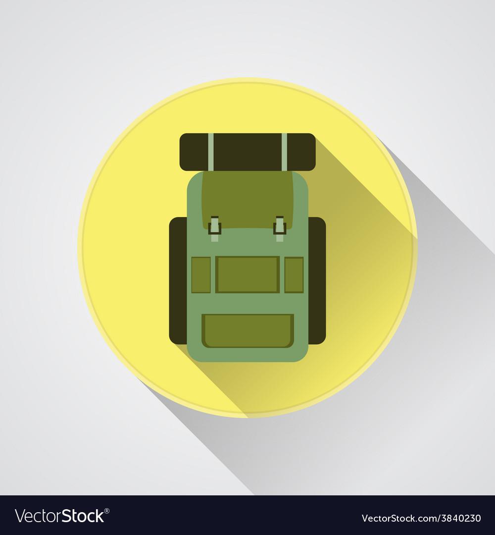 Flat modern set of three hiking backpacks three vector   Price: 1 Credit (USD $1)