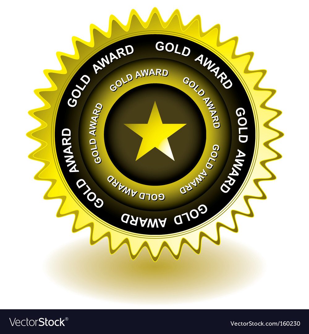 Gold award icon vector | Price: 1 Credit (USD $1)