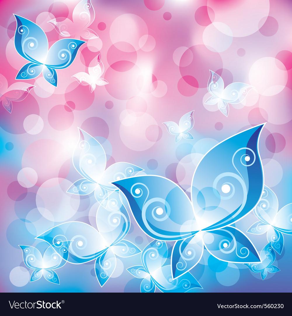 Mystical butterflies vector | Price: 1 Credit (USD $1)