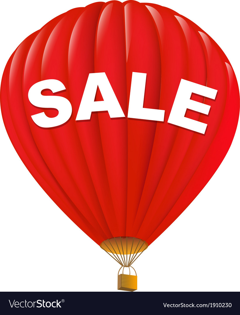 Red sale hot air balloons vector | Price: 1 Credit (USD $1)