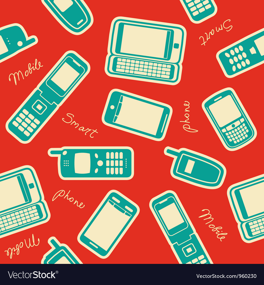 Seamless mobile devices background vector   Price: 1 Credit (USD $1)