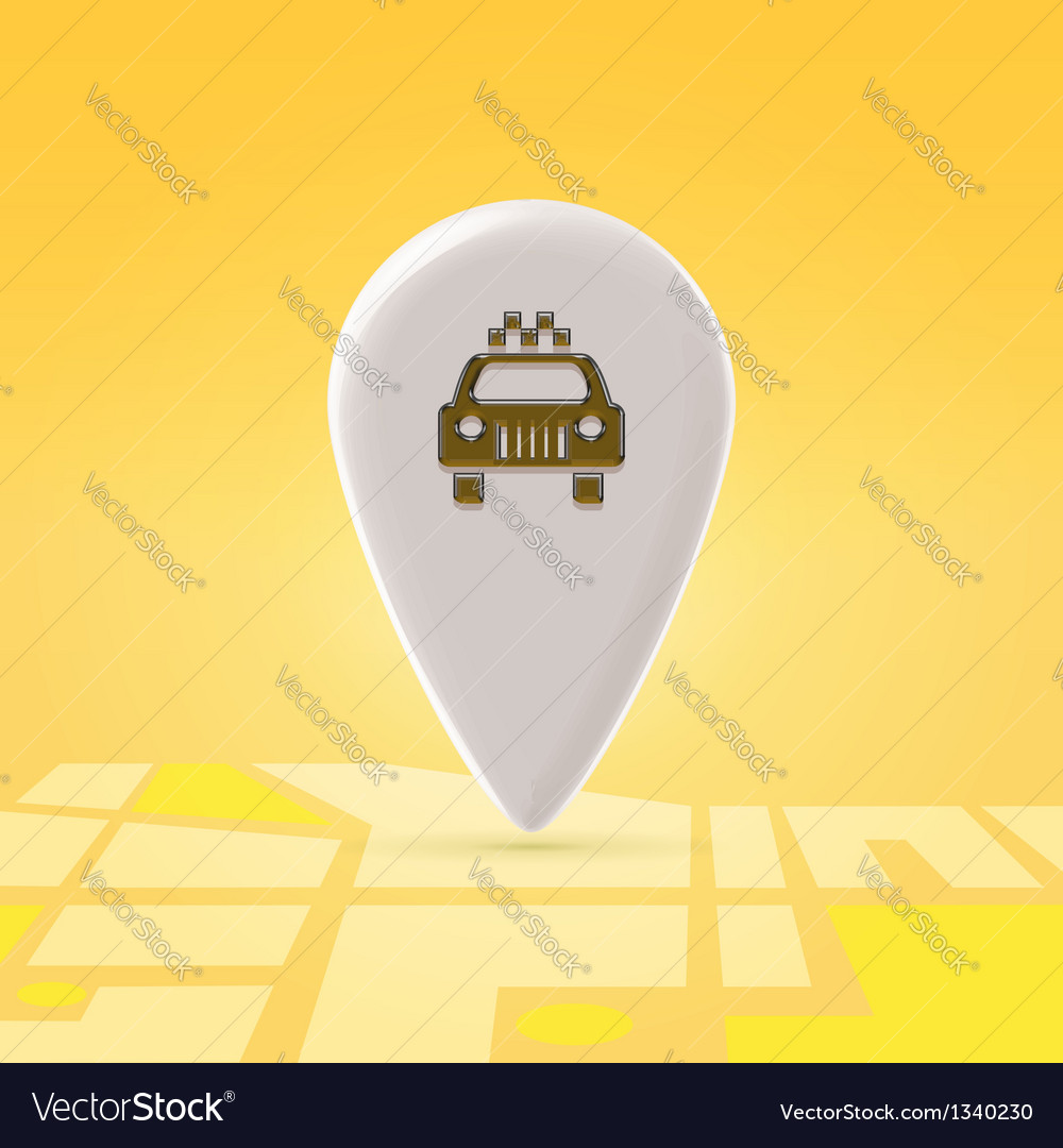 Taxi pin over map vector | Price: 1 Credit (USD $1)