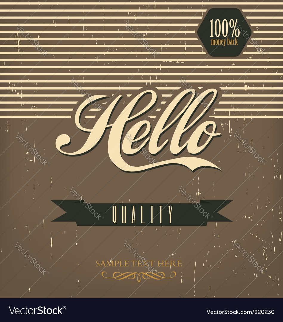 Vintage design template vector | Price: 1 Credit (USD $1)