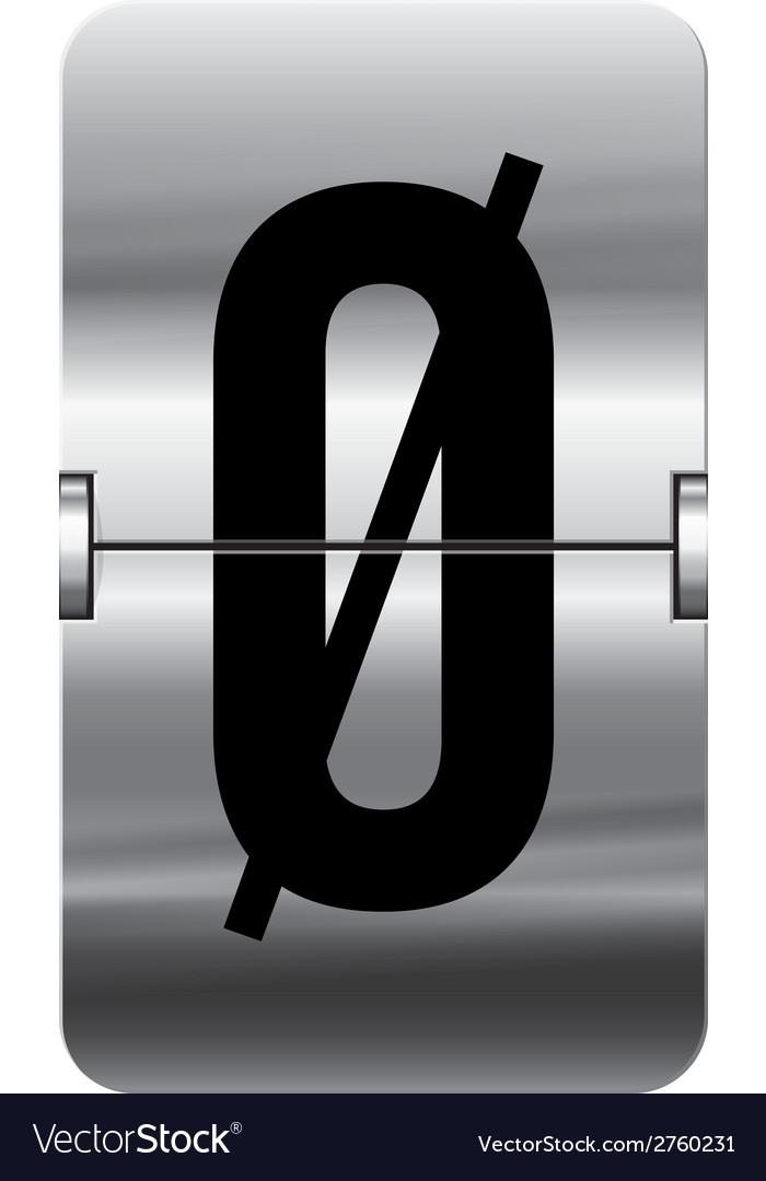 Alphabet silver flipboard letters oe vector | Price: 1 Credit (USD $1)