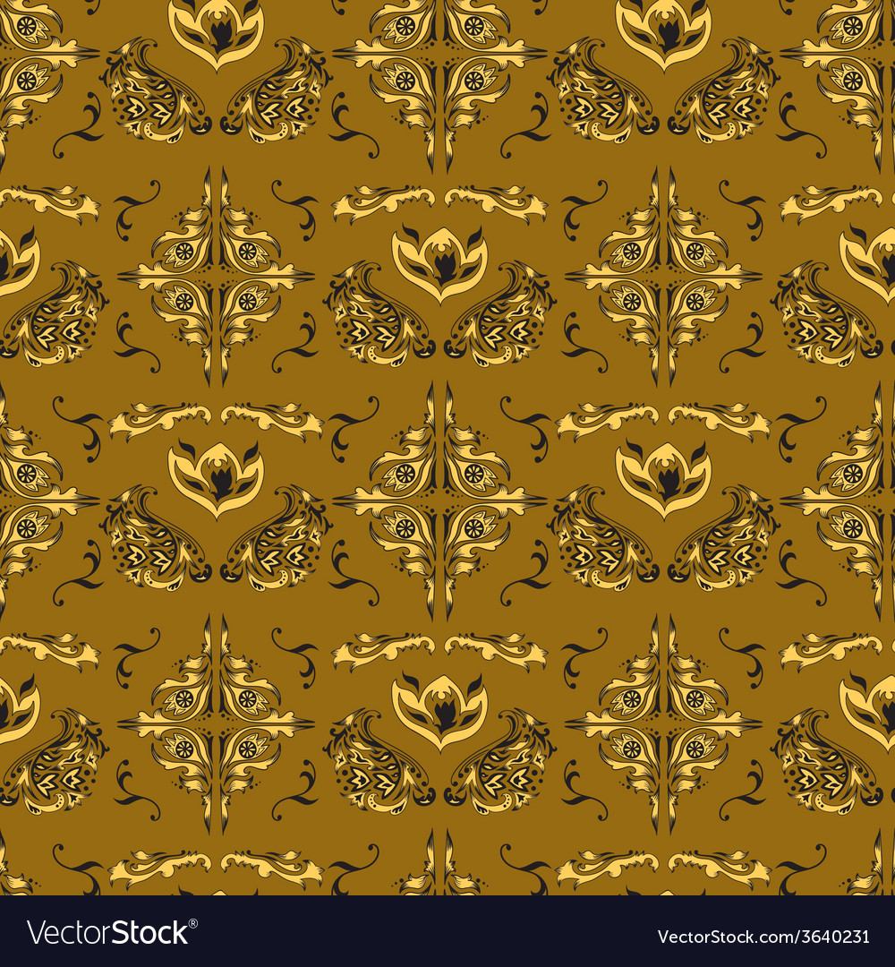 Arabic damask pattern vector | Price: 1 Credit (USD $1)