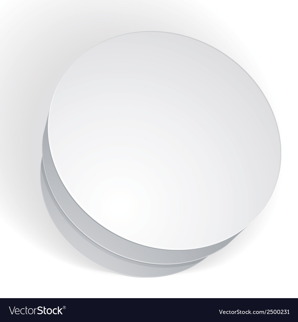 Blank round box isolated on white background vector | Price: 1 Credit (USD $1)