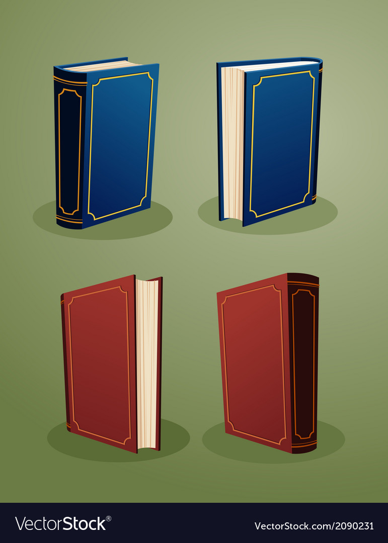 Books in various angle copy vector | Price: 1 Credit (USD $1)