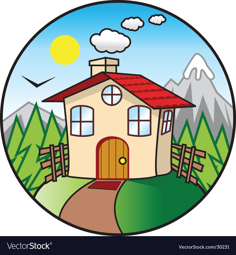 Cartoon cottage vector | Price: 1 Credit (USD $1)