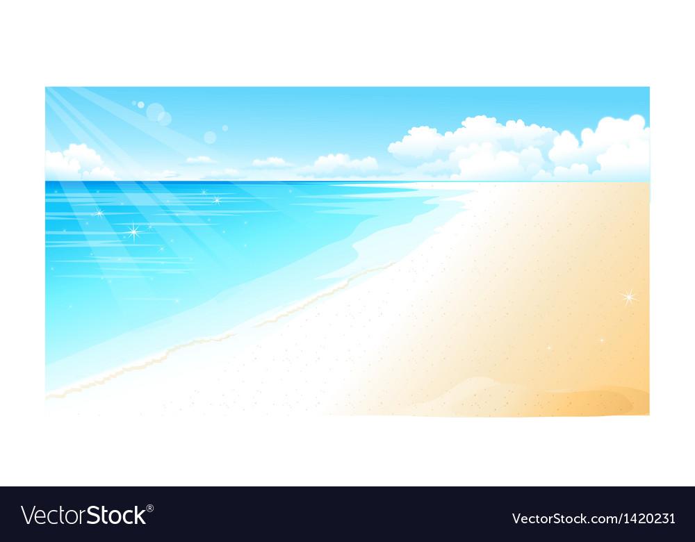 Coastline at beach vector   Price: 1 Credit (USD $1)