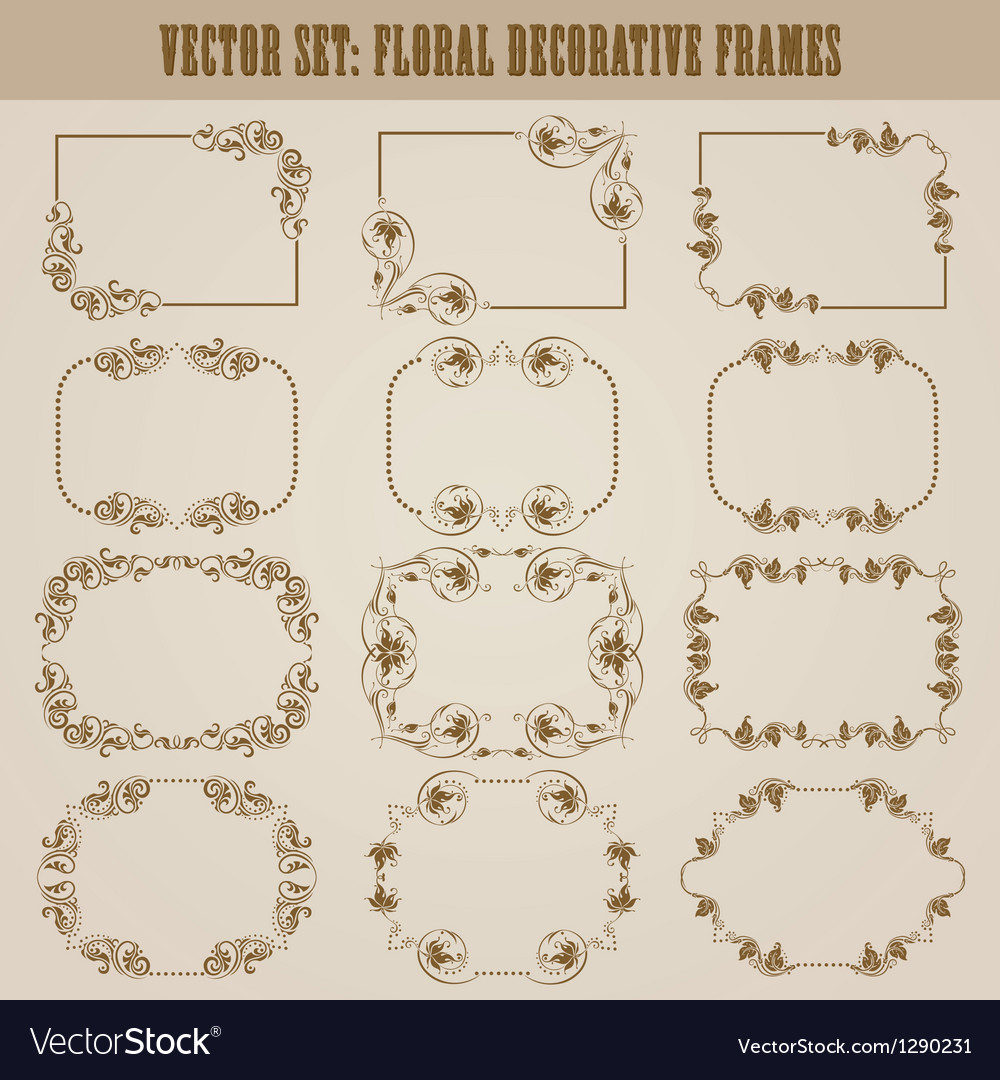 Decorative frame vector | Price: 1 Credit (USD $1)