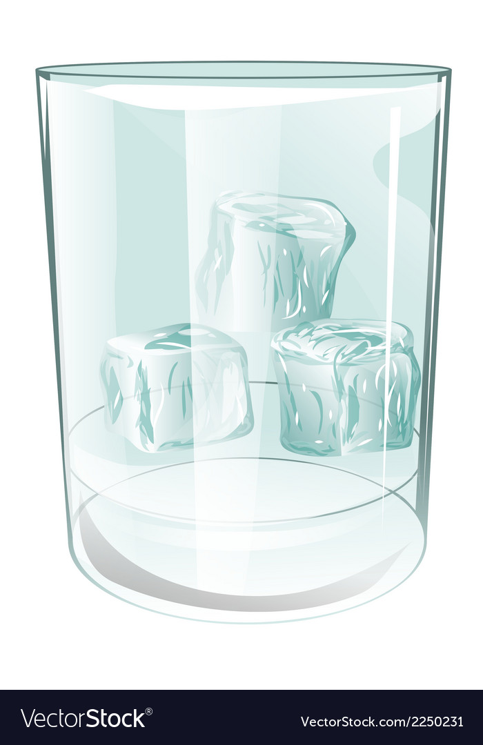 Glass of ice on white vector | Price: 1 Credit (USD $1)
