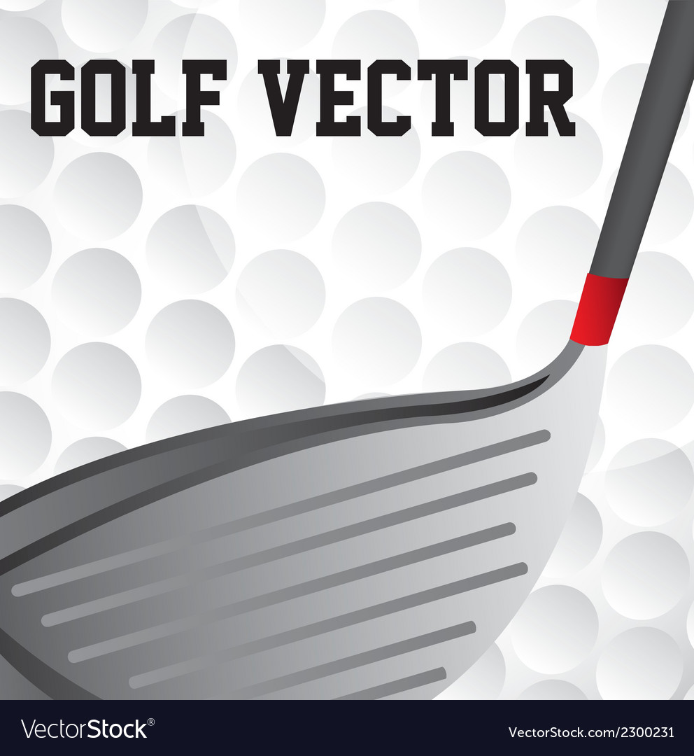Golf club vector | Price: 1 Credit (USD $1)