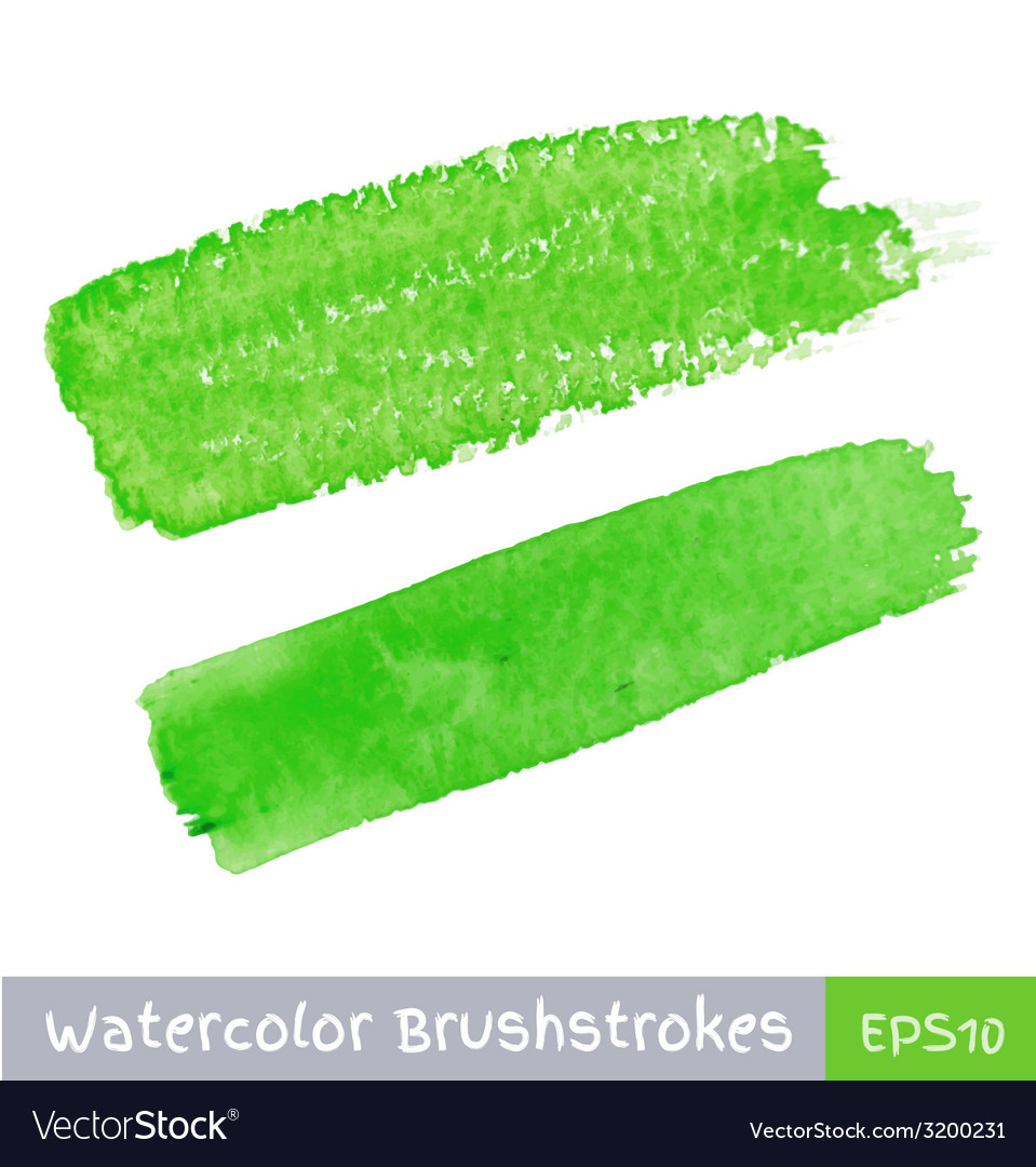 Green watercolor brush strokes vector | Price: 1 Credit (USD $1)