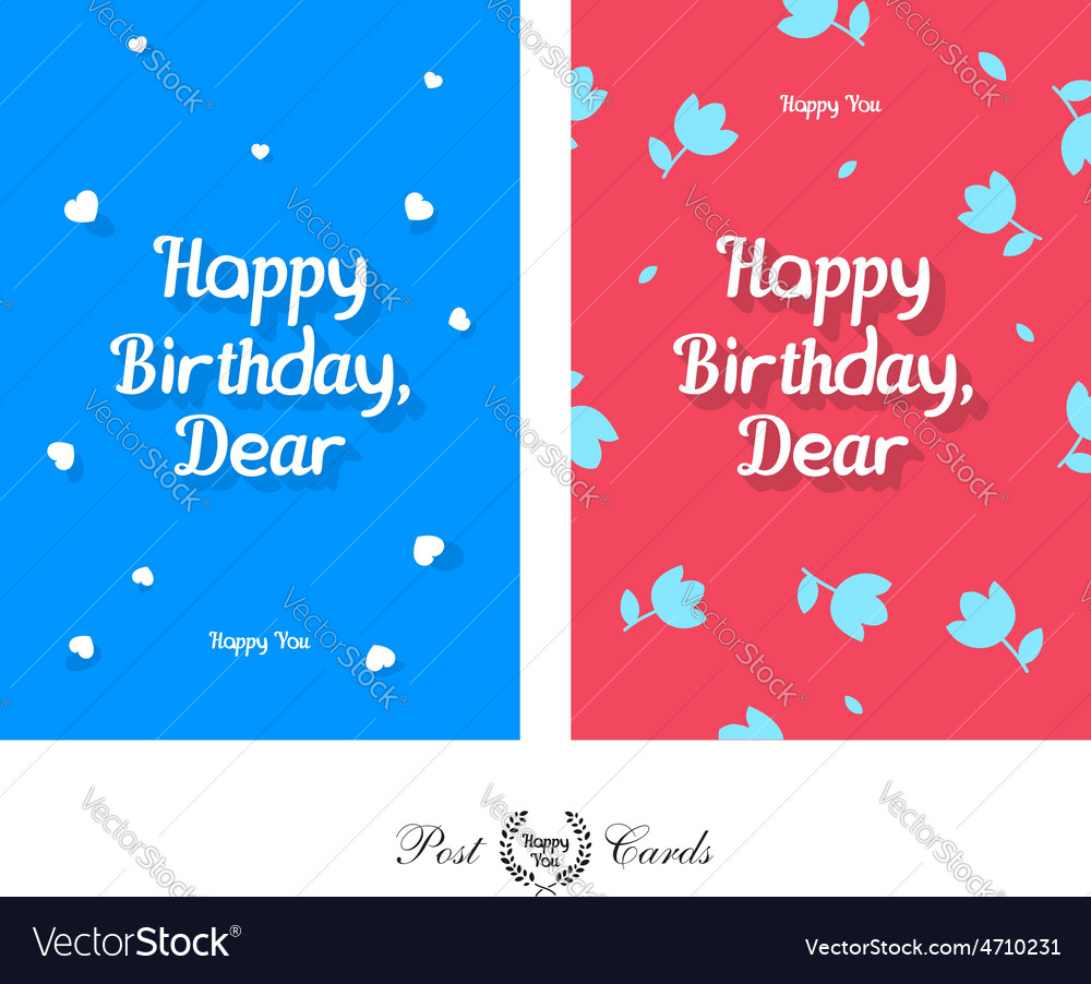 Happy birthday dear tender and cute greeting vector | Price: 1 Credit (USD $1)
