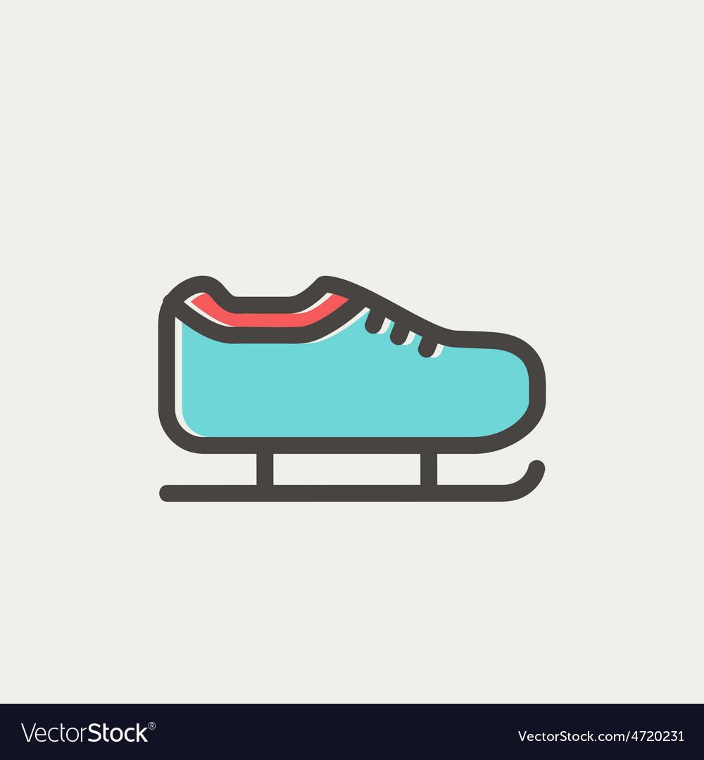 Ice skate thin line icon vector   Price: 1 Credit (USD $1)